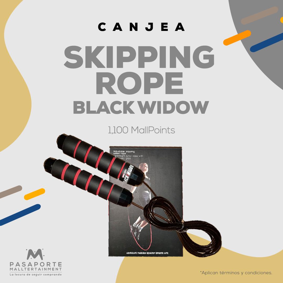 Cuerda de saltar edición limitada Black Widow-Marvel