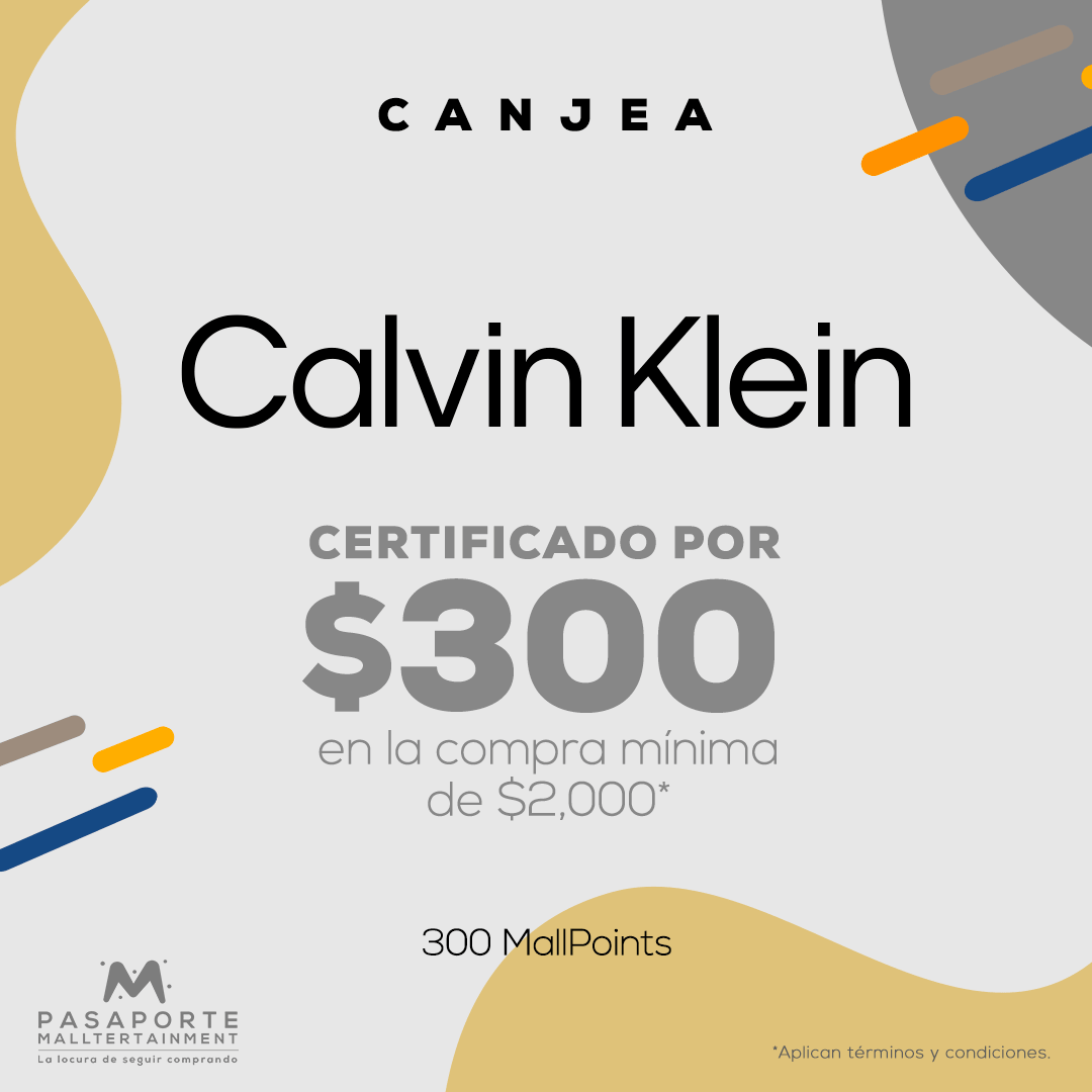 Certificado de consumo de $300.00 pesos  descuento en la compra mínima de $2,000
