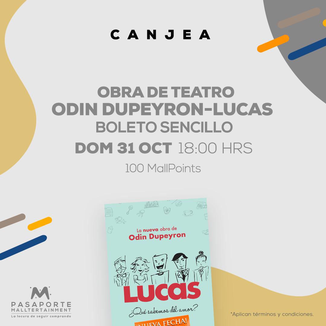Obra de teatro Odin  dupeyron- Lucas Boleto sencillo 31 oct 18 hrs