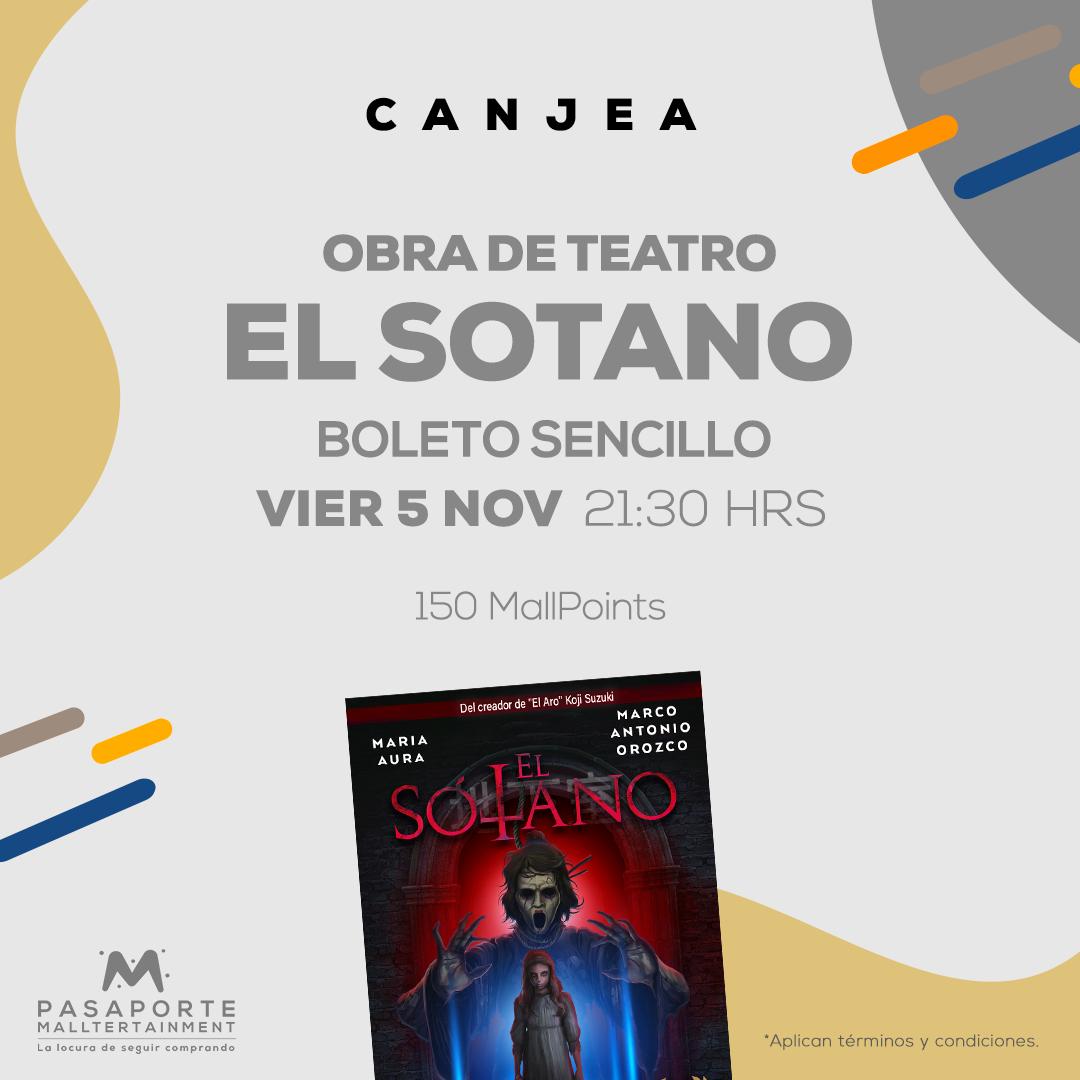 Boleto sencillo Teatro interlomas Boleto Sencillo El sotano 5 noviembre 21:30 hrs