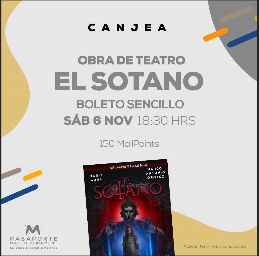 Teatro Interlomas función Sábado 6 nov 18:30 hrs